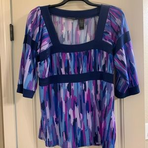 NWOT multi colored top